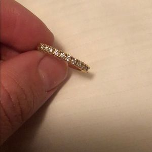 Yellow gold simple diamond (CZ) band